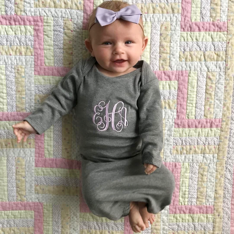 Monogrammed Infant Layette