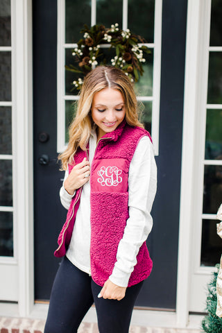Personalized Fleece Sherpa Vest