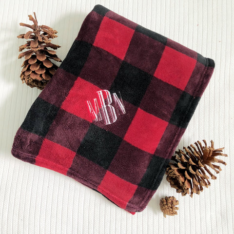 Plaid Personalized Fleece Blanket
