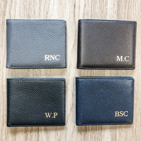 Men's Personalized Genuine Leather Wallet