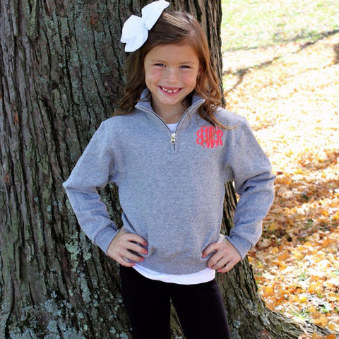 Girls Quarter Zip Pullover