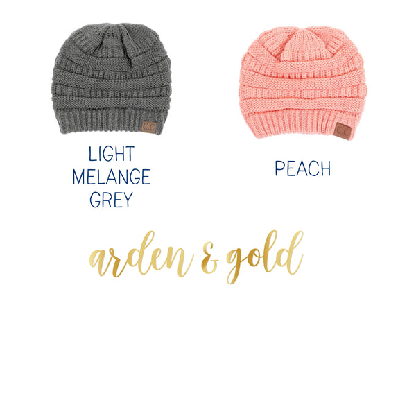 973a7662c7b5d Youth Messy Bun Beanie – Arden and Gold