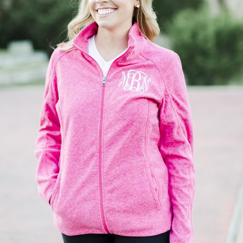 Mila Full Zip Lightweight Fleece Sweatshirt