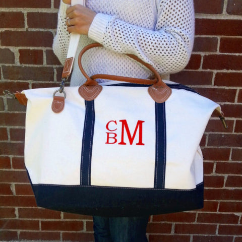 Canvas Weekender Satchel Bag