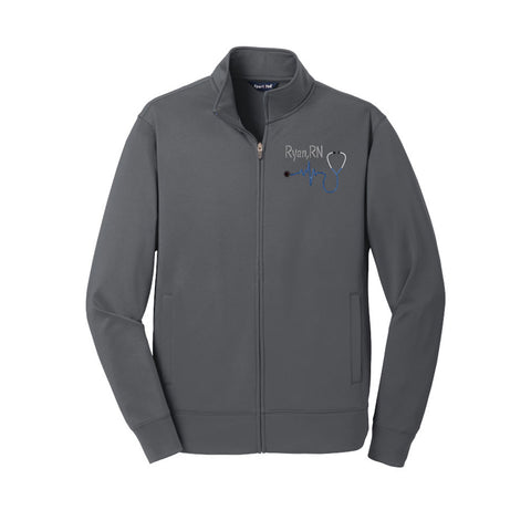 Men's Polyester Nurse Full Zip