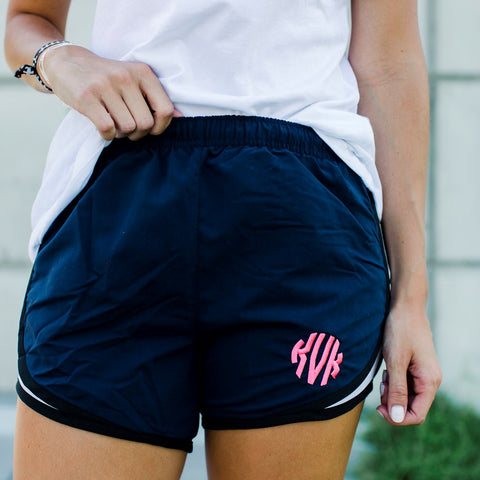 Monogrammed Ladies Athletic Shorts