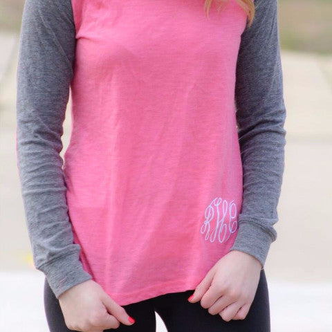 Long Sleeve Elbow Patch Baseball Tee