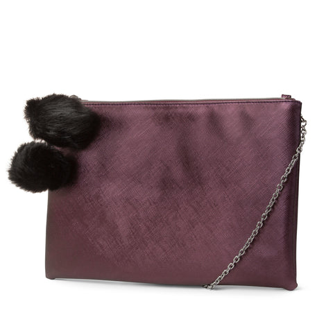 Dylan Pom Top Zip Clutch