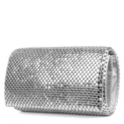 Metal Mesh Roll Evening Clutch