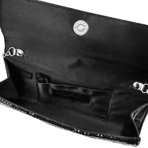 Jessica McClintock Hailey Bow Clutch - Black - Inside