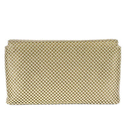 Trina Metal Mesh Clutch - Gold - Back