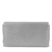 Trina Metal Mesh Clutch - Silver - Back