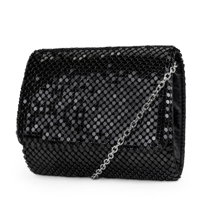 Katie Mesh Flap Evening Bag