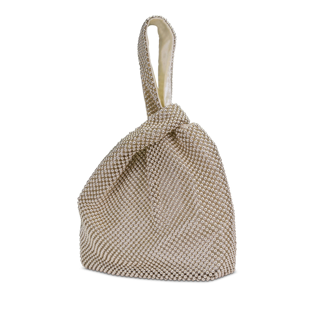 Logan Ball Mesh Pouch (Light Gold)