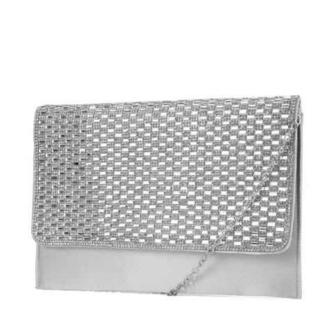 Courtney Rhinestone Large Flap Evening Clutch