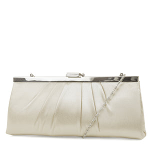 Blaire Framed Satin Evening Clutch