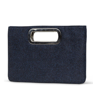 Tiffany Lurex Evening Bag (Navy)
