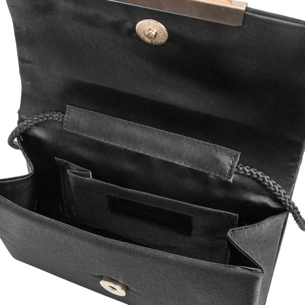 Jessica McClintock Harper Clutch- Black - Inside