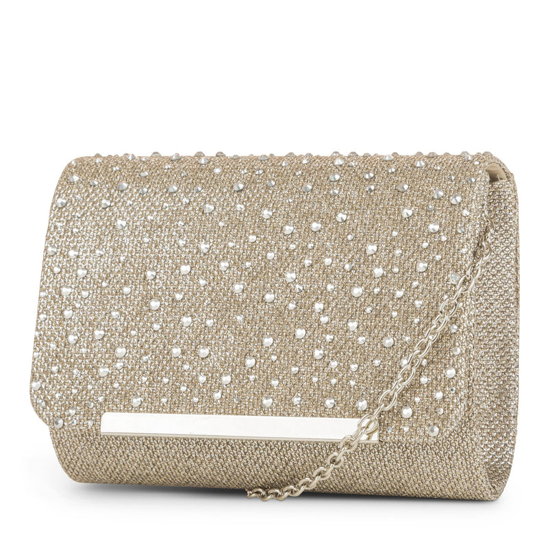 Katie Lurex Evening Clutch with Stones