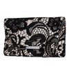 Riley Lace Envelope Clutch (Black/Champagne)
