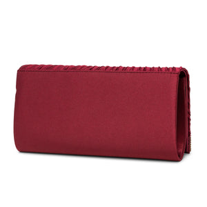 Chloe Pleated Satin Clutch