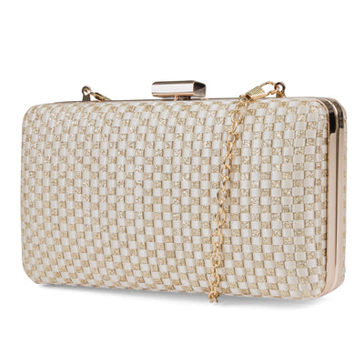 Noelle Woven Evening Minaudiere