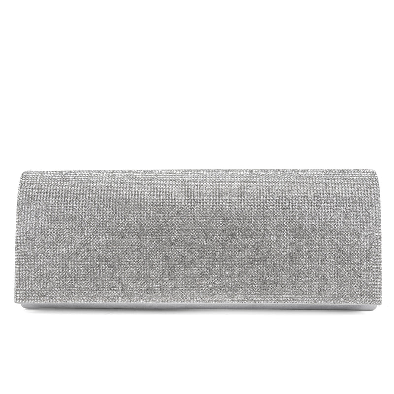 Jennifer Micro Evening Clutch (Silver)
