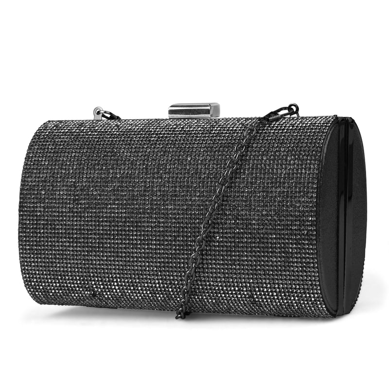 Aspen Rhinestone Evening Clutch (Black)