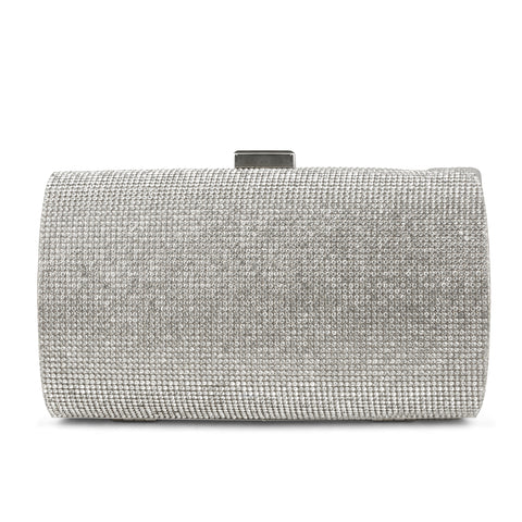 Aspen Rhinestone Evening Clutch (Silver)