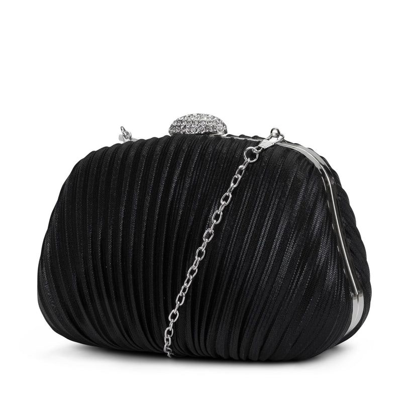 Brianna Hard Case Pleated Clutch