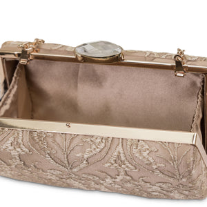 Farah Lace Evening Minaudiere Champagne)