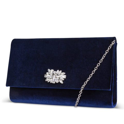 Nora Large Velvet Envelope Clutch