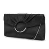 Scarlette Pleated Ring Clutch