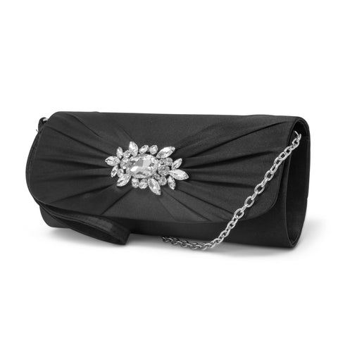 Marian Wristlet with Rhinestone Brooch