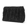 Alisha Pleated Clutch With Brooch