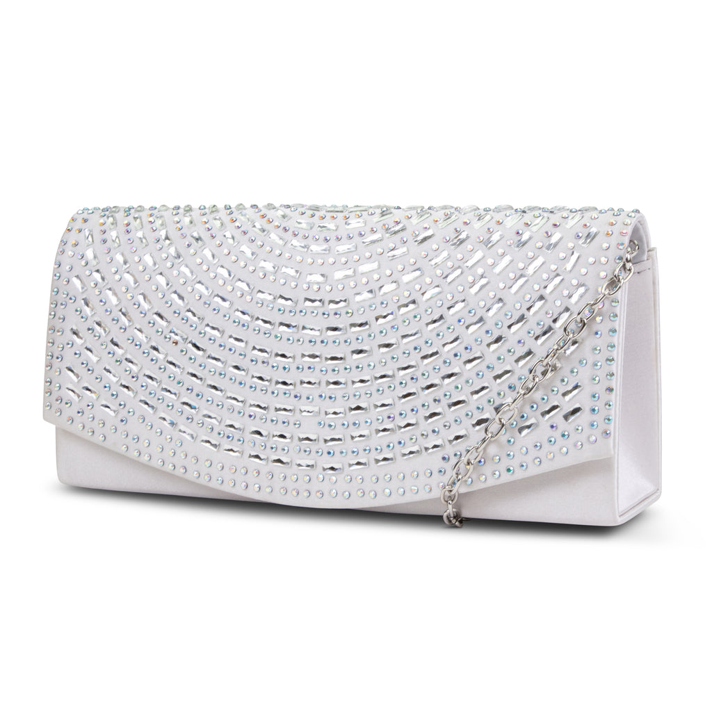 Connie Rhinestone Flap Clutch