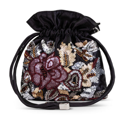 Victoria Floral Beaded Pouch
