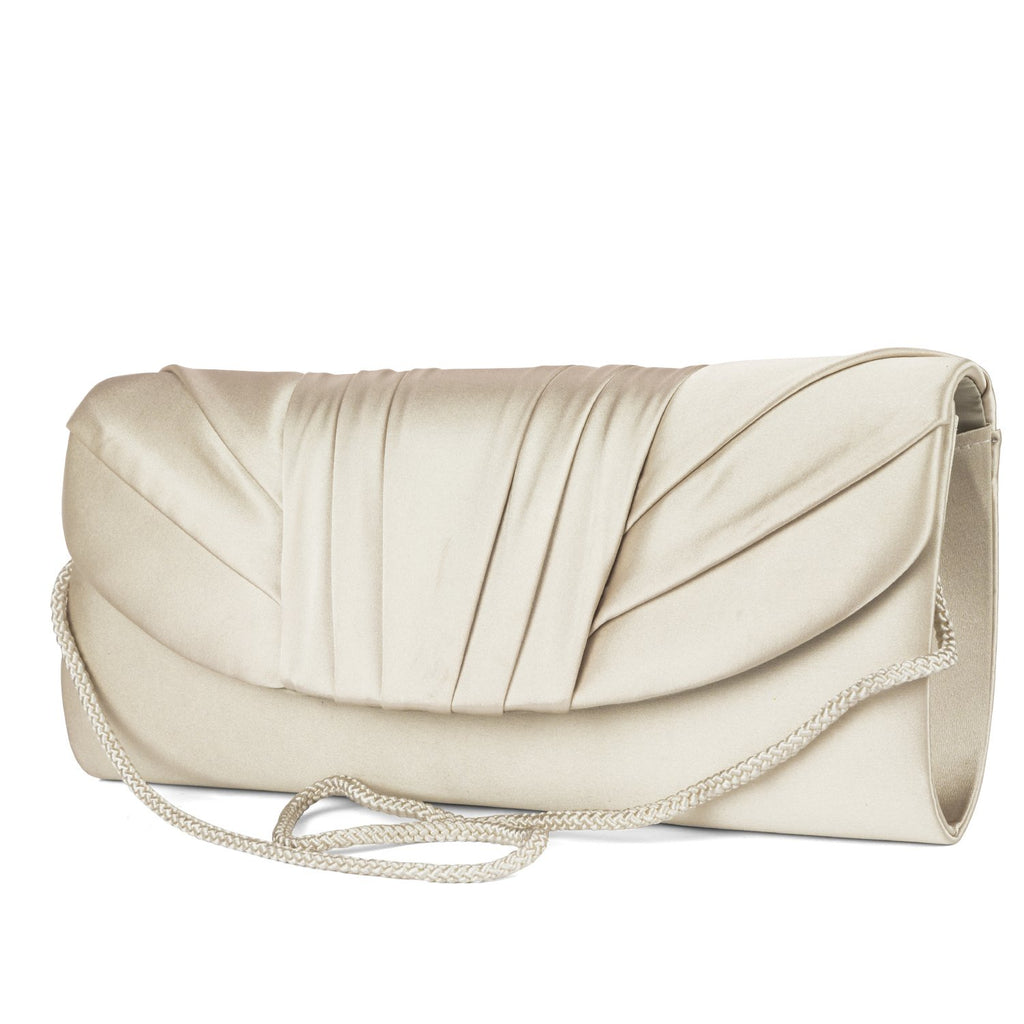 Angel Satin Tuxedo Flap Evening Clutch