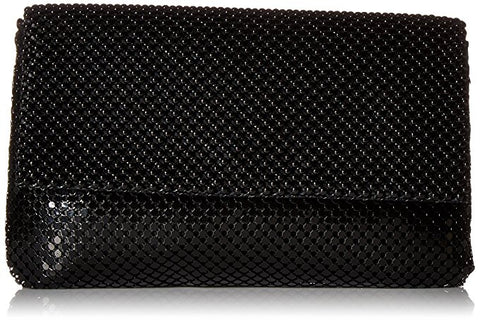 Ariella Large Mesh Clutch (Black)