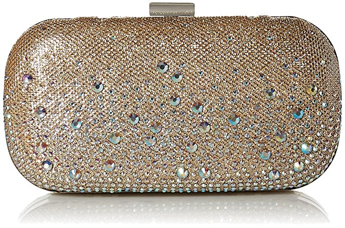 Emme Sparkle Stones Minaudiere (Champagne)