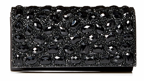 Chloe Jeweled Clutch (Black)