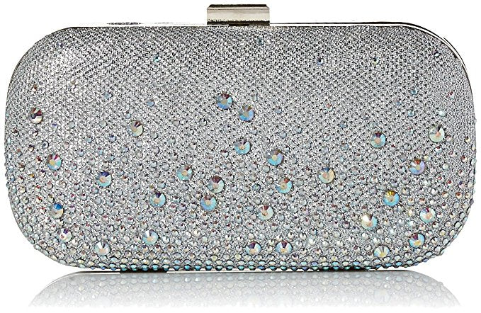 Emme Sparkle Stones Minaudiere (Silver)