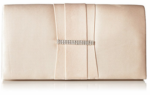 Gloria Satin Clutch (Champagne)