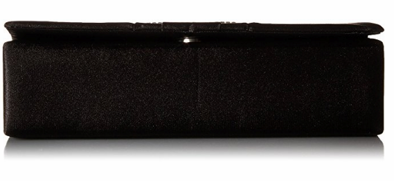 Gloria Satin Clutch (Black)