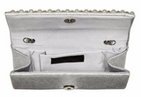 Chloe Pearl Evening Clutch (Silver)