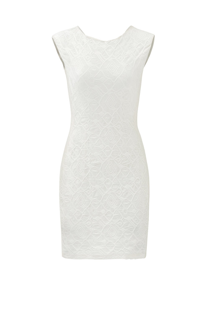 Women's Dress Large Sheath Jacquard Sleeveless