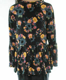 Knit Top Medium Bell Sleeve Floral