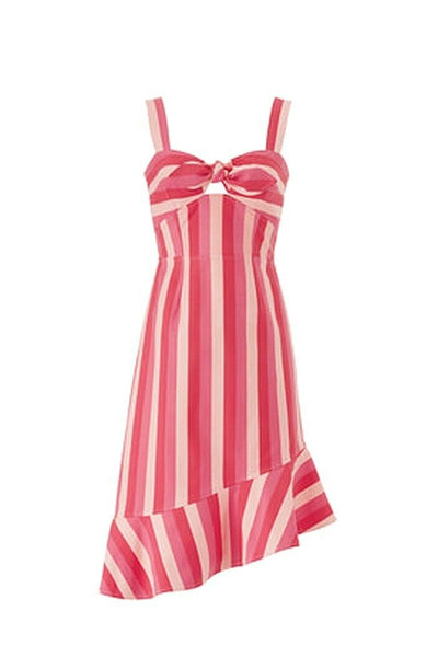 Dress ALine Stripe Sweetheart-