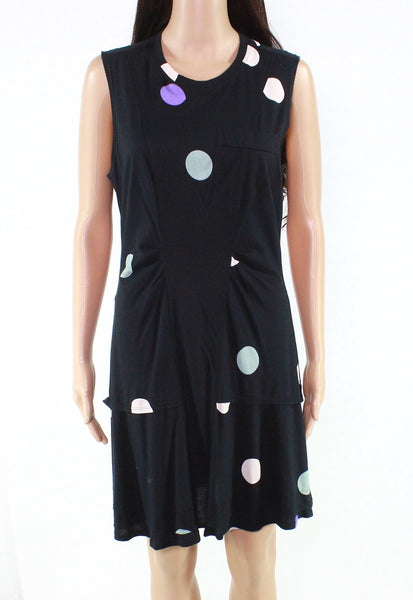Dress Black Large Sheath Polka Dot $275-