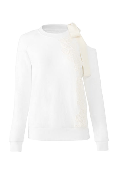 Sweater Crewneck FloralDetail-